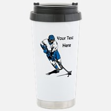 Icy Hockey. With Your Text. Travel Mug
