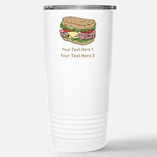 Sandwich. Custom Text. Travel Mug