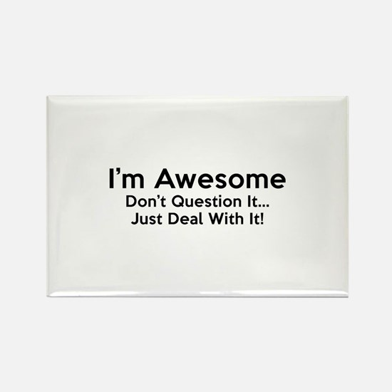 I'm Awesome Rectangle Magnet