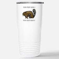 Beaver. With Text. Travel Mug