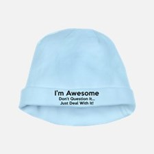 I'm Awesome baby hat