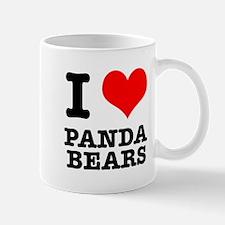I Heart (Love) Panda Bears Mug