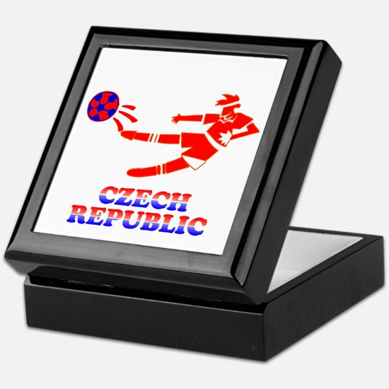 Czech Soccer Player Keepsake Box