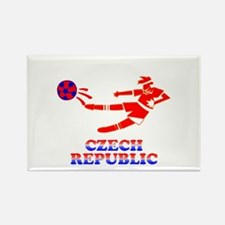 Czech Soccer Player Rectangle Magnet