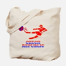 Czech Soccer Player Tote Bag