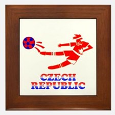 Czech Soccer Player Framed Tile