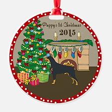 2015 Doberman Pinschers 1St Christmas Ornament