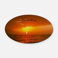 Siesta Key Oval Car Magnet