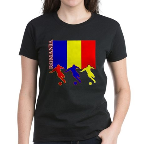 Romania Soccer Women's Dark T-Shirt