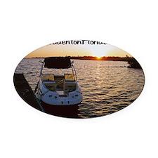 Florida Sunrise Oval Car Magnet