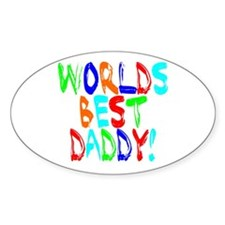 World's Best Daddy Oval Decal