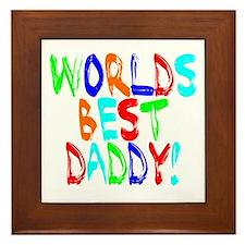 World's Best Daddy Framed Tile