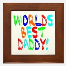 World's Best Daddy Framed Tile