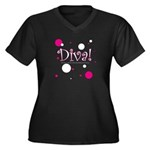 Plus Size Diva Wear Women's Plus Size V-Neck Dark