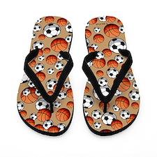 Soccer & Basketrball Flip Flops