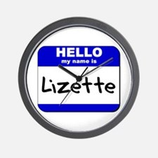 hello my name is lizette  Wall Clock