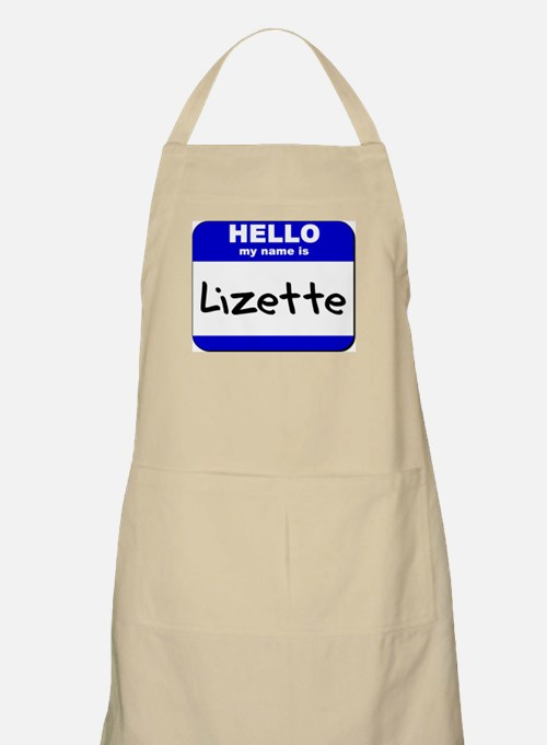 hello my name is lizette  BBQ Apron