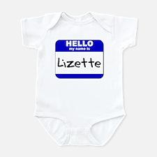 hello my name is lizette  Infant Bodysuit