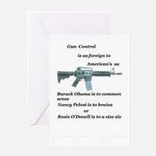 gun control obama,pelosi,rosie Greeting Card