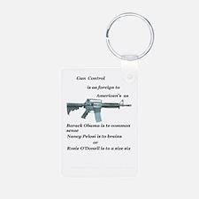 gun control obama,pelosi,r Keychains