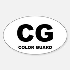 Color Guard! Oval Decal