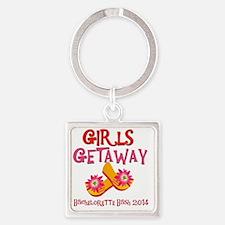 Girls Getaway Bachelorette Bash 20 Square Keychain