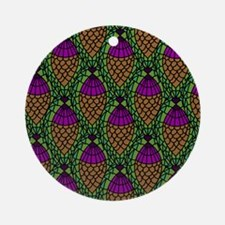 Crochet Pineapples Round Ornament