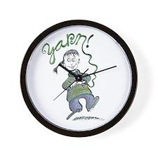 Yarn! Girl Clock