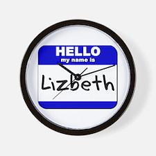 hello my name is lizbeth  Wall Clock