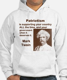 PATRIOTISM IS SUPPORTING YOUR COUNTRY ALL THE TIM