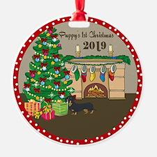 2019 Dachshund 1St Christmas Ornament