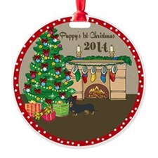2014 Dachshund 1St Christmas Ornament