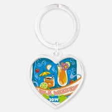 Girls Weekend 2014 Heart Keychain