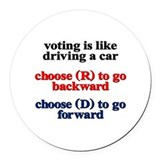 Politics Round Car Magnets