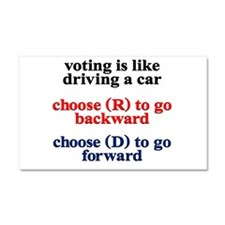 Voting Is Like Driving A Car Car Magnet 20 x 12