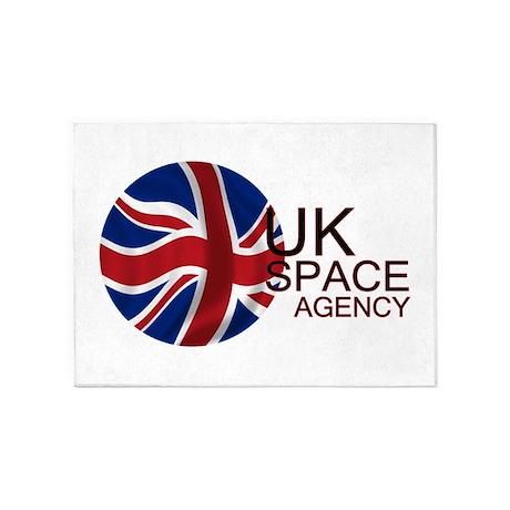 United Kingdom Space Agency 5'x7'Area Rug