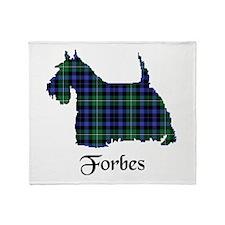 Terrier - Forbes dress Throw Blanket
