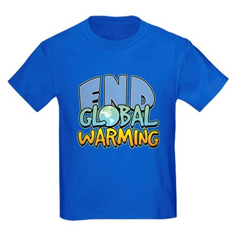 End Global Warming Kids Dark T-Shirt