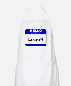hello my name is lionel  BBQ Apron