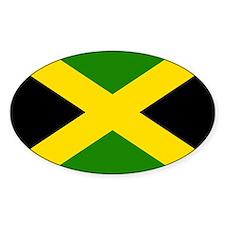 Flag of Jamaica Oval Decal