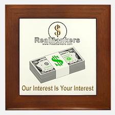 Banker Interest Framed Tile
