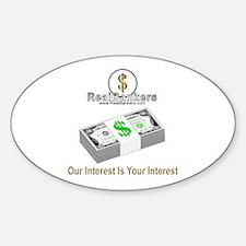 Banker Interest Oval Decal