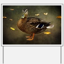 Autumn Duck Yard Sign