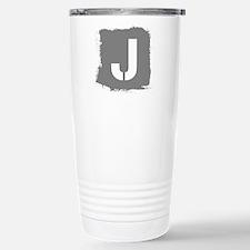 Initial Letter J. Stainless Steel Travel Mug