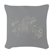 Rollei Camera Graphic Woven Throw Pillow