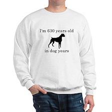 90 birthday dog years boxer Sweatshirt
