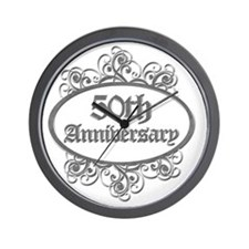 50th Aniversary (Engraved) Wall Clock