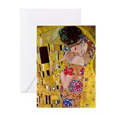 The Kiss detail, Gustav Klimt, Vinta Greeting Card
