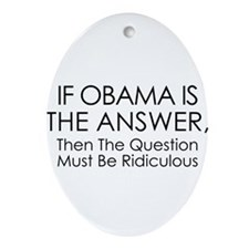 If Obama Is The Answer Ornament (Oval)