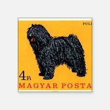"Vintage 1967 Hungary Puli D Square Sticker 3"" x 3"""